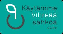 Käytämme Vihreää sähköä -sertifikaatti